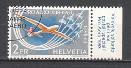 Switzerland 1963 Mi 780 Canceled AIRPLANE (3) - Luftpost
