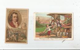 CLAUDE CHAPPE INVENTEUR DU SEMAPHORE 2 CHROMOS ANCIENS  DIFFERENTS - Trade Cards