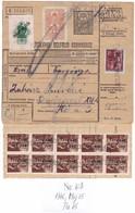 # 11147 Hungary, 1946, Máj.15, Postal Stationery Parcel Card Partial Franked: Postai Szállitólevél Belfőldi Csomaghoz - Paketmarken
