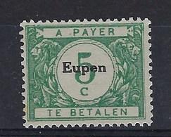 "OC101-V2** : ""e"" Cassé,, Dans ""Eupen"" (t71/80) - [OC55/105] Eupen/Malmedy"