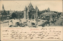 Postkaart Amsterdam Amsterdam Vischmarkt St. Anthoniuswaag 1902 - Amsterdam