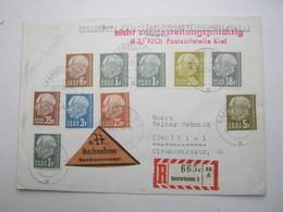 1958 , NN-Einschreiben Mit Post Zollstempel ( Zensur) - 1947-56 Allierte Besetzung