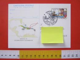 A.12 ITALIA ANNULLO 1992 GENOVA POST CARD £ 700 FDC CELEBRAZIONI COLOMBIANE CRISTOFORO COLOMBO AMERICA NAVE CARAVELLA - Us Independence