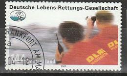 PIA - GERMANIA - 2003 : 90° Anniversario Della Società Tedesca Di Salvataggio In Mare - (Yv 2193) - Usati