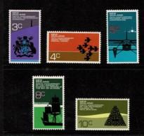 New Zealand 1972 Anniversaries Set Of 5 MNH - Ongebruikt