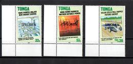 Tonga   - 1990 - Alternative Energy Sources  - SPECIMEN - SET - MNH. - Tonga (1970-...)