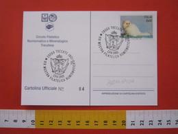 A.12 ITALIA ANNULLO 1993 TRECATE NOVARA STEMMA ARALDICA SPADA FENICOTTERO UCCELLO BIRD CARD CASTELLO - Stemmi