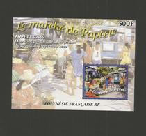 "POLYNESIE 2002 - Yvert BF N°28 "" AMPHILEX 2002 - Le Marché De Papeete "" Neuf** - Blocchi & Foglietti"