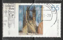 """PIA - GERMANIA - 2002 : """"Chiesa Del Mercato Di Halle"""" - Quadro Di Lyonel Feminger - (Yv 2122) - Usati"""