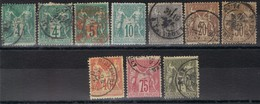 Petit Lot De Sage Type1 - 1876-1878 Sage (Type I)