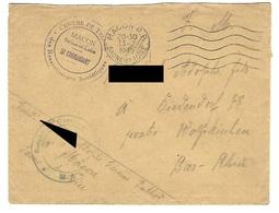 Correspondance En Provenance Du Centre De Triage Des Ressortissants Soviétiques De Macon - 13.7.1945 - Liberazione
