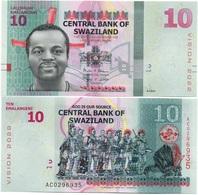Swaziland - 10 Emalangeni 2015 / 2017 UNC Lemberg-Zp - Swaziland