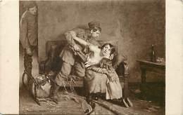 Ref Y371- Guerre 1914-18-illustrateurs -illustrateur Charpentier Bosio Gaston -tableau   Salon De Paris 1919- La Brute - - War 1914-18