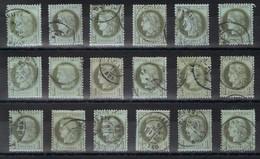 Lot De N°50 En Bon état Et Même Très Bon état Pour La Plupart Côte 360€ - 1871-1875 Cérès
