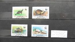 Europe > Slovénie :4 Timbres Oblitérés N° 122/125  :tortues WWF - Slovénie