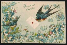 ZWALUW  HIRONDELLE   - RELIEF  GAUFFREE - Oiseaux