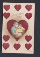 Guerre 14-18 Carte Patriotique A Toi Mon Coeur Couple Amoureux Type Carte à Jouer ( La Favorite  Ref 40387) - Patriotic