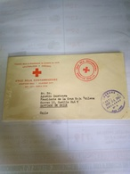 Costa Rica Red Cross Official Free Mail To Chile  1962 Printed Cover - Costa Rica