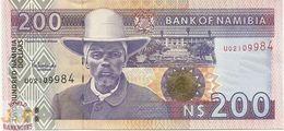 NAMIBIA 200 DOLLARS 1996/2003 PICK 10b UNC - Namibie