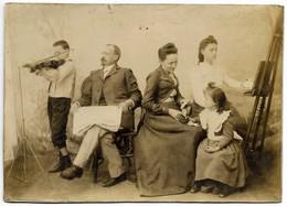 PHOTO Des Familles MOUROUT Et OLIVIER De PARIS Papier Cartonné Format 17 / 12 - Geïdentificeerde Personen