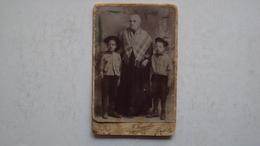 ANTICA FOTO CARTONATA FOTOGRAFO FAGGELLA BARLETTA BARI FORMATO PICCOLO - Antiche (ante 1900)