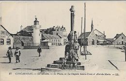 29, Finistère, CONCARNEAU, Le Calvaire, Le Phare, La Chapelle Sainte-Croix Et Abri Du Marin, Scan Recto Verso - Concarneau