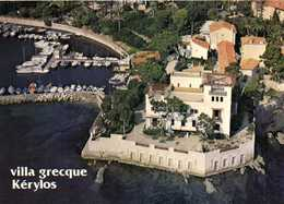 CPSM Grand Format Villa Grecque Kérylos Fondation Theodore Reinach Vue Aérienne Colorisée  RV - Beaulieu-sur-Mer
