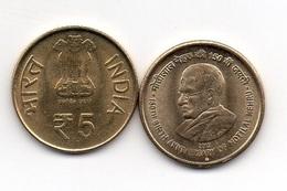 India - 5 Rupees 2012 UNC Motilal Nehru Lemberg-Zp - India