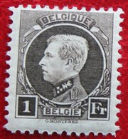 1Fr Koning Albert I Montenez Perf 11½ 1921 1922 OBP 214 (Mi 167 167A) POSTFRIS/ MNH / ** BELGIE / BELGIEN / BELGIUM - Unused Stamps