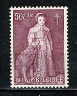 Belg. 1964 OBP/COB 1307-V** MNH (2 Scans) Haarlok / Mèche - Varietà (Catalogo COB)
