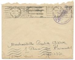 ENVELOPPE WW2 / FRANCHISE MILITAIRE / TOULOUSE POUR GRASSE 1941 BATAILLON DE L'AIR N° 116 - Marcophilie (Lettres)