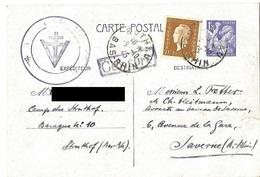 Correspondance Du Camp Du Struthof - Entier Postal 6.10.1945 - Libération