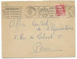 MARIANNE DE GANDON SUR ENVELOPPE / BRESSUIRE POUR PARIS / 1951 - Marcophilie (Lettres)