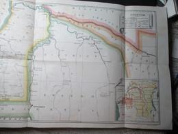 Congo Belge Carte Kwango 1900 Prefecture Apostolique Perfecte - Cartes Géographiques