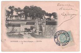 CACHET JOUR DE L'AN : CAD ÉVIDÉ De PARIS DISTRIBUTION Sur CP De BAYONNE AFFRANCHIE TYPE BLANC 5c - Marcophilie (Lettres)