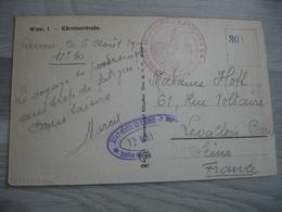 Autriche Mission Militaire Francaise  Carte Wien  Franchise Postale Militaire Guerre 39.45 - Marcofilie (Brieven)