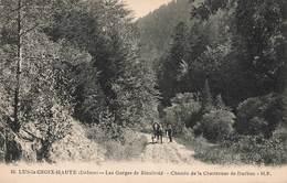 26 Lus La Croix Haute Gorges De Rioufroid Chemin Chartreuse De Durbon Cpa Carte Animée Attelage - Autres Communes