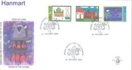Aruba 2000 Mi 264-266 FDC ( FDC ZS2 ARB264-266 ) - Childhood & Youth
