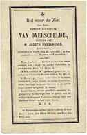 IEPER - Virginia VAN OVERSCHELDE - (Wwe J. Dunslaeger) - Overleden 1861 - Images Religieuses