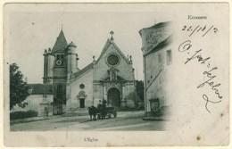 95 - B12429CPA - ECOUEN - Eglise - Carte Pionnière - Assez Bon état - VAL-D'OISE - Ecouen