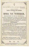 NEDERBRAKEL - Monica VAN WYMEERSCH - Regelzuster V.d. H. Franciscus -  Overleden 1862 - Images Religieuses