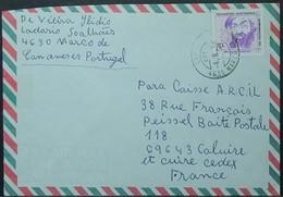 Portugal - Cover To France 1994 Discoveries Fernão De Magalhães 70$ Solo Marco De Canaveses - 1910-... República