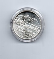 REP. SLOWAKIJE 200 KORUN 1996 ZILVER TREIN VERBINDING 1896-1996 - Slovaquie