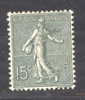 France  :  Yv  130a  *  Type II  Très Bon Centrage - 1903-60 Semeuse A Righe