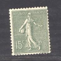 France  :  Yv  130b  *  Type III   Boule Au Pied Du H - 1903-60 Semeuse A Righe