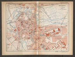 CARTE PLAN 1935 N° 91 - BOURGES - TERRAIN De SPORTS ATELIER De CONSTRUCTION ABS ÉCOLE De PYROTECHNIE - Topographische Kaarten