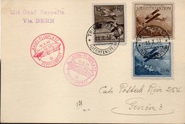 "LIECHTENSTEIN : VOL ZEPPELIN . DE "" TRIESSENBERG "" . POUR GENÈVE ; 1930 . - Covers & Documents"