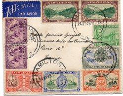 """NOUVELLE - ZÉLANDE : PA . DE """" HAMILTON """" . POUR LA FRANCE . 1946 . - Lettres & Documents"""