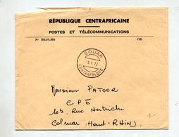 Lettre Franchise Cachet Bouar - Centrafricaine (République)