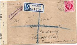 GRANDE - BRETAGNE : PA . REC . POUR LA FRANCE . CENSURÉE . TRANSIT PAR L'ESPAGNE . 1942 . - Storia Postale